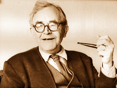 Karl Barth holding a pipe