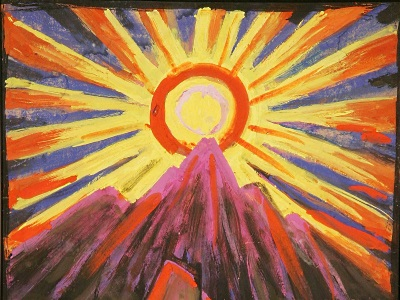 painting of the sun