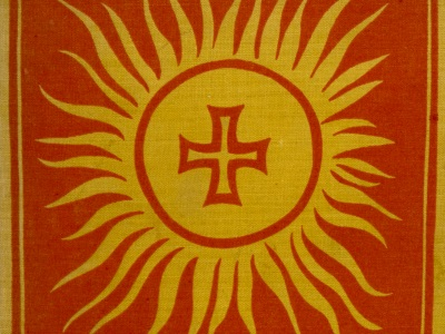 symbol of sun and cross by Rudolf Koch