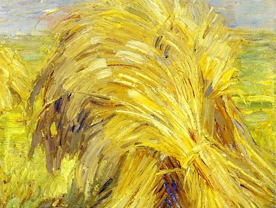 painting of sheaves of wheat by Franz Marc
