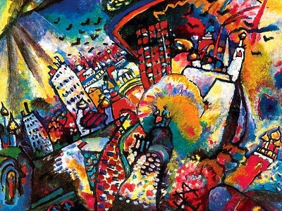 painting of a city by Kandinsky
