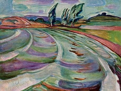 wind and water by Edvard Munch