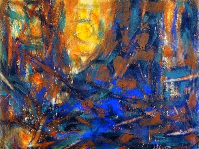 expressionist painting of the sun