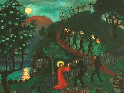 painting of Jesus in Gethsemane