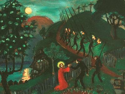 painting of Jesus in Gethsemane