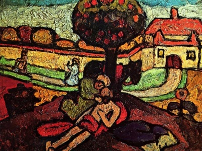 the good Samaritan painting by Modersohn