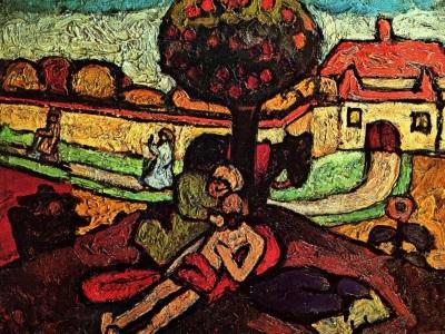 the good Samaritan painting by Modersohn