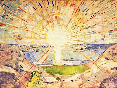 painting of the sun by Edvard Munch