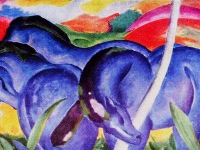 blue horses impressionism